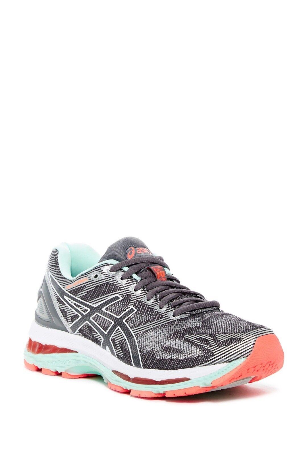 $160 NEW ASICS Gel-Nimbus 19 Carbon White/Flash Coral Train Running Shoe Sz 12N
