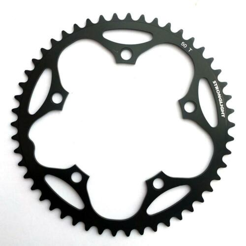 Stronglight BIKE CHAIN RING Dural 5083 130 BCD Shimano 9 10 SPEED 50 T Nero