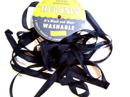 Full Bolt Hug Snug Rayon Black Seam Binding x 100 Yards Black Ribbon