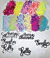 Anna Griffin Die Cuts Hello With Thanks Smile 12 Color Choices You Pick Freeship