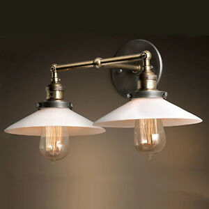 Modern Rustic Wall Sconces : Modern Vintage Industrial Loft Metal Double Rustic Sconce Wall Light Wall Lamp eBay