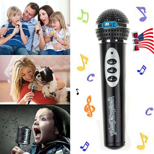 Kids Sound Toys Karaoke Microphone for Kids Storytelling Mic Singing Kid Party Microphone Funny Gift for Kids Zer one Children Wired Microphone Blue