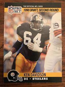 2953481edd1 Image is loading 1990-Pro-Set-Ken-Davidson-Pittsburgh-Steelers-712