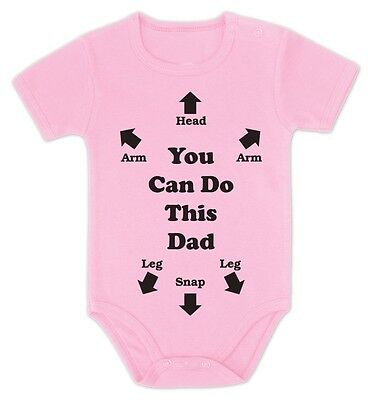 YOU CAN DO THIS DAD Baby Onesie Baby Shower Gift Instructions Dad To Be Bodysuit