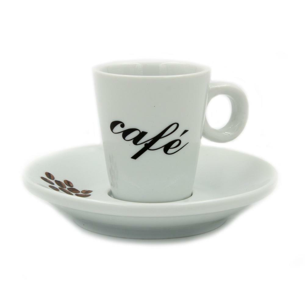Set Of 6 Espresso Cups and Saucers With Gift Box