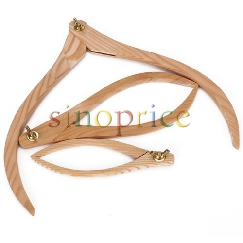 3 Sizes Wooden Calipers Pottery Clay Ceramic Measuring Tool For Proportioning
