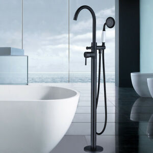 Image Is Loading Free Standing Bathtub Faucet Filler Oil Rubbed Bronze
