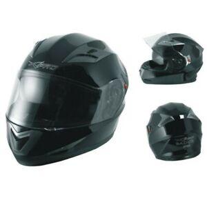Integral-Helm-Motorrad-Roller-Sonnenblende-Touring-Schwarz