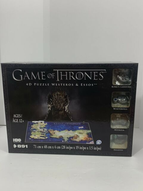 NEW Game of Thrones 4D Puzzle of Westeros & Essos 4D Cityscape - 891 pieces