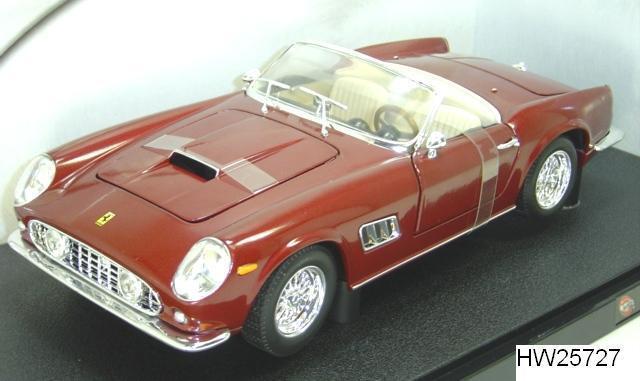 Ferrari 250 GT California Spider rouge Bordeaux par Hot Wheels 1 18 New in Box