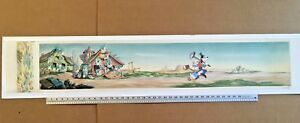 4' Pan Production Background 1940 BILL POSTERS Disney cel Mickey Mouse Donald