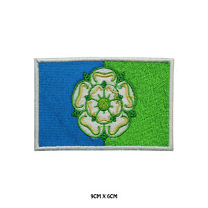 EAST RIDING County Flag Embroidered Patch Iron on Sew On Badge For Clothes Etc