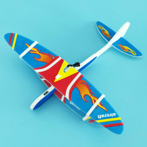 Electric LED Aircraft Hand Launch Glider EPP Foam Airplane Kids Toys Plane Gift
