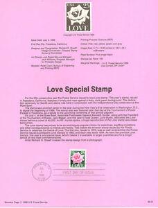 8831-25c-Love-w-Rose-Stamp-2378-USPS-Souvenir-Page