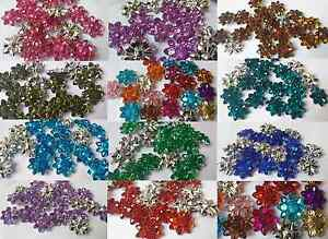 20-30-Mixed-Variety-faceted-Flower-Crystal-Sew-Craft-Buttons-Size-20-27-30mm