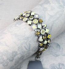 PILGRIM Bracelet Vintage Silver White Opal Swarovski VICTORIAN PROMISE BNWT