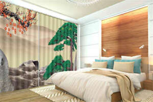 Cypress-On-The-Hill-3D-Curtain-Blockout-Photo-Printing-Curtains-Drape-Fabric