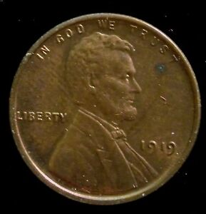 Details about 1919 Philadelphia Mint Lincoln Wheat Penny Cent High Grade  Coin