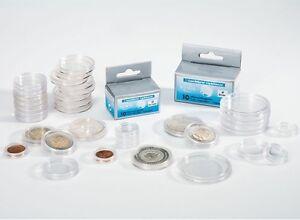 10-Capsules-pour-pieces-de-monnaie-diametre-au-choix-de-14-a-41-millimetres