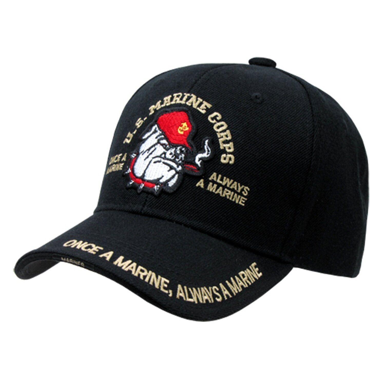 US Marines Bulldog Officially Baseball Licensed United States USA Baseball Officially Cap Caps Hat afbf81