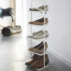 Yamazaki-Armoire-a-Chaussures-Metal-5-Serie-pour-5-Paire-Portable-Neuf-Blanc