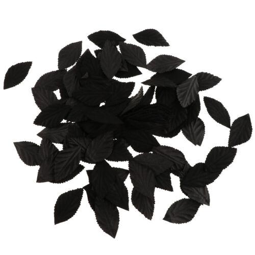 Lots 100Pcs Artificial Silk Fake Rose Flower Leaves Bulk Wedding Party Decor