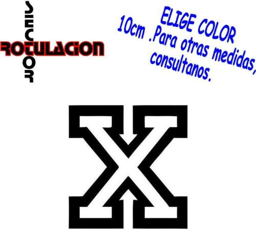 ref1677 Straight Edge X Hardcore Punk ROCK BAND PEGATINA VINILO STICKER DECAL