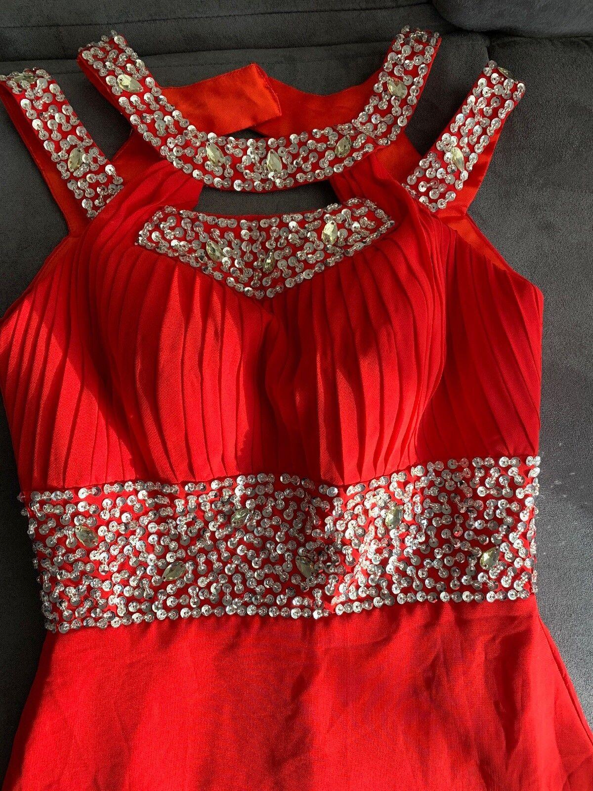 Abendkleid Rot Gr. 34 XS NEU