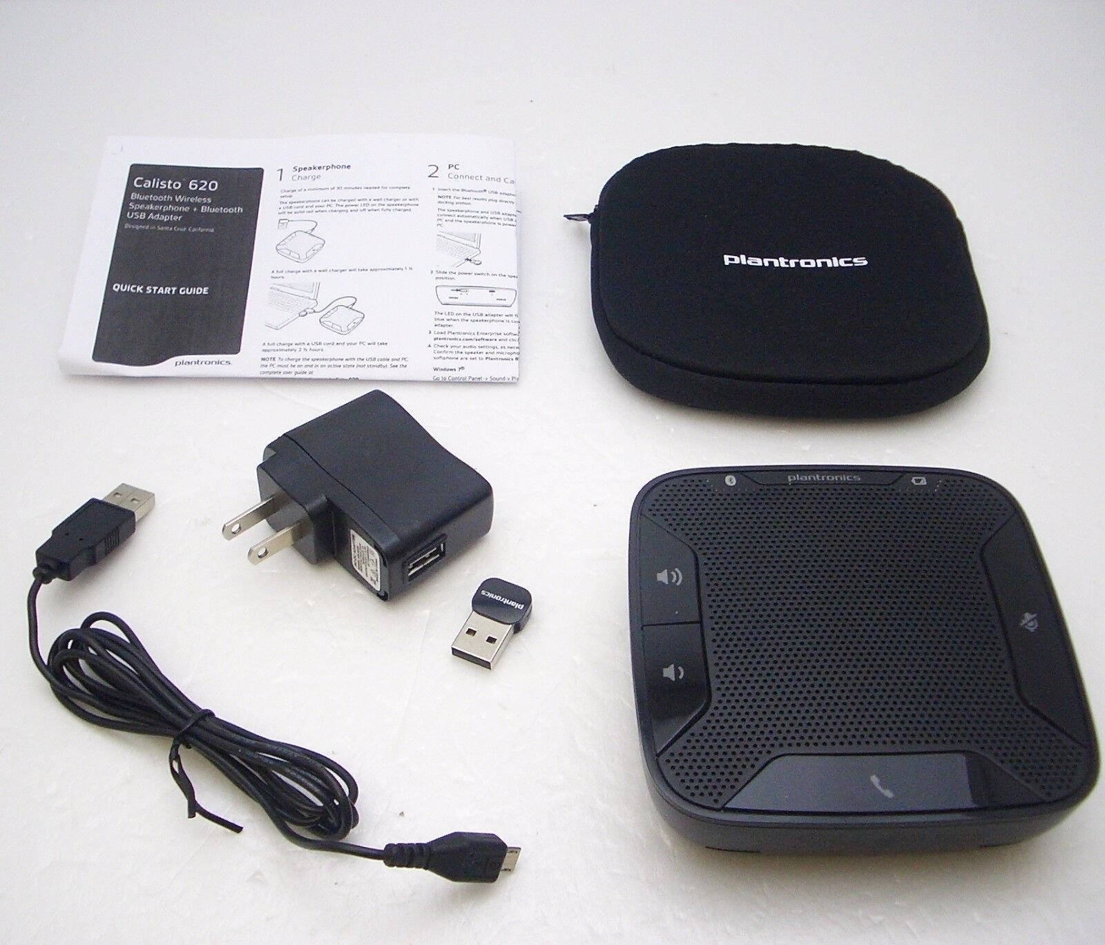 Details about PLANTRONICS CALISTO P620 Bluetooth Wireless USB PC Speakerphone TESTED WORKING