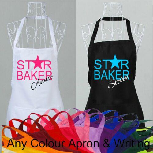 Personnalisé Star Baker Tablier Cook Nouveauté grande cuisine nom British Bake Off