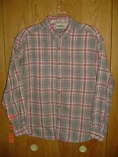 NORTHERN REFLECTIONS Flannel Plaid Checkered Shirt Oxford Collar Large FC303