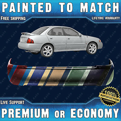 PREMIUM Fits: 2007 2008 2009 Nissan Sentra Rear Bumper Cover Painted