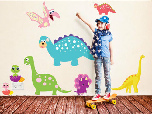 Decors Removable Fabric Stickers Dinosaur Wall Stickers