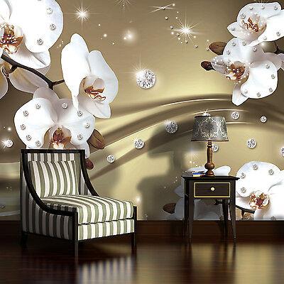 Krachtig Vlies Fototapete Tapete Poster Bild Tapeten Orchidee Muster Blumen 3fx2314ve Kleuren Zijn Opvallend