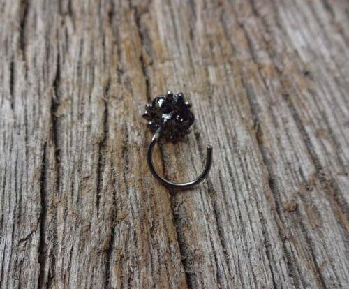 Black Nose Ring sapphire Pierre Nez Bijoux Black Nose Stud Piercing Crock Vis