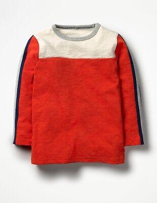 Boden Boys NWT Ecru Crayon Red Tractor Farm Appliqué T-Shirt 0-3 mo