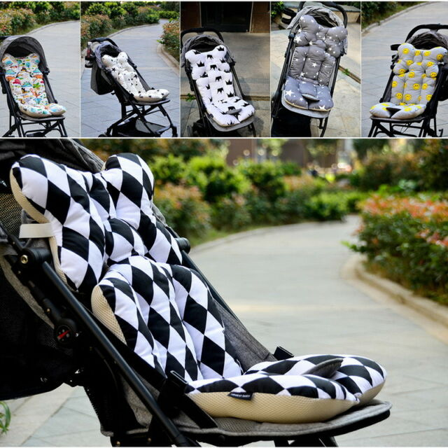 Pad Cushion Blue Dinosaur Bebamour 3D Mesh Stroller Liner Infant//Baby Cool Seat Insert for Carseat Size 38 70cm Infant Cushion Pad