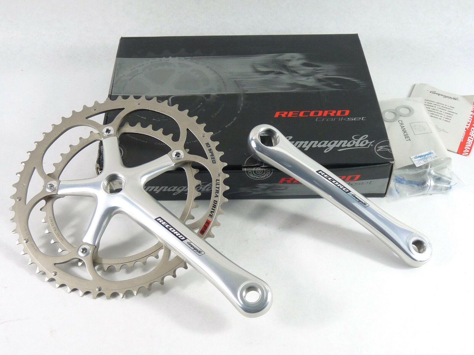 Campagnolo Record Crankset 10 Speed 175Mm 53-39 Ultra Drive EPS Bike 2006 NOS