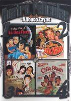Cuatro Peliculas De Alfonso Zayas, Dvd, Spanish Language Only, No Subtitles,