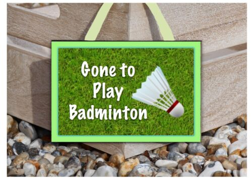 GONE to BADMINTON WOOD SIGN Rustic Personalised Hanging Bike Plaque Add Name