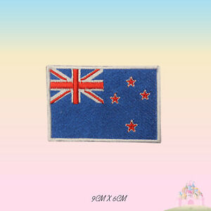 New-Zealand-National-Flag-Embroidered-Iron-On-Patch-Sew-On-Badge