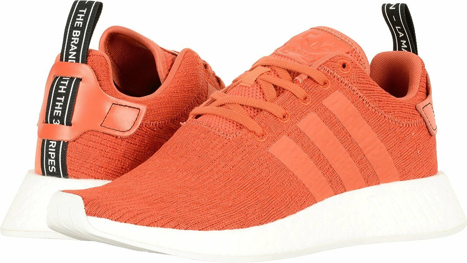 Adidas Homme NMD_R2 PK Chaussures Running Orange/Blanc BY9915