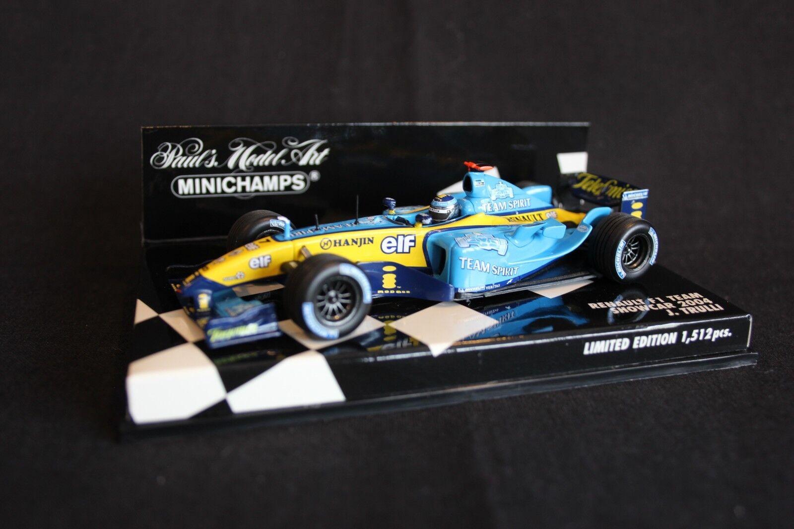 encuentra tu favorito aquí Minichamps Renault F1 F1 F1 Team ShowCoche 2004 1 43  7 Jarno Trulli (ITA)  Hay más marcas de productos de alta calidad.