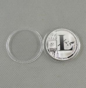 Silver-Plated-Commemorative-Litecoin-Collectible-Golden-Iron-Miner-Coin-Gift-XN9