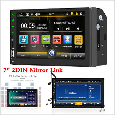 """7/"""" 2Din 1080P Car MP5 Player Touch Screen Remote Control Android//IOS Mirror Link"""