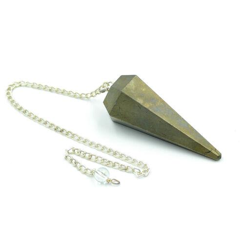 40-50 MM Natural Pyrite Dowsing Pendulum Reiki Healing Positive Energy