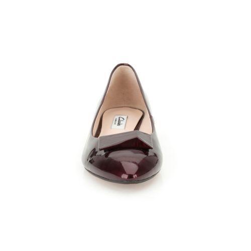 CLARKS **Amulet Myth Oxblood Patent ** Women/'s Flat Shoes UK 4.5 5 5.5 6 RRP £65