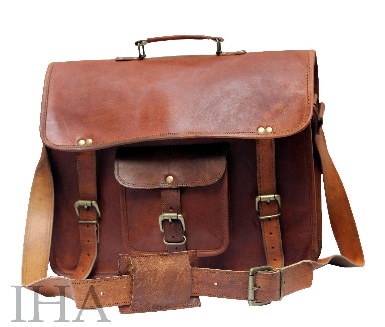 ffb09a0a2579a Aktentasche Lehrertasche Schultasche Leder Tasche Tasche Tasche Jahrgang spitze  Umhängetasche 24603d