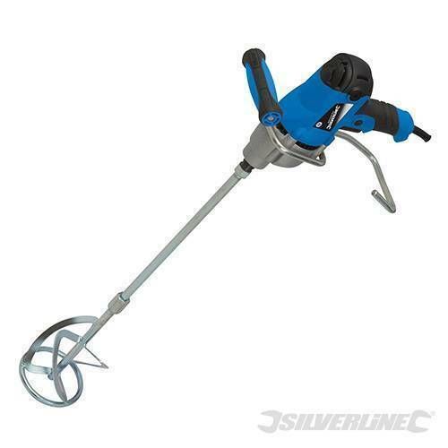 HEAVY DUTY SILVERLINE 850W CEMENT PLASTER MORTAR PAINT MIXER MIXING PADDLE 240V