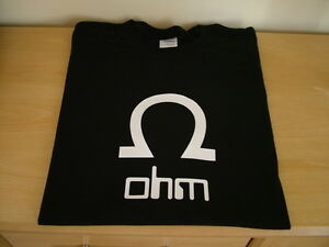 RETRO-SYNTH-T-SHIRT-SYNTHESISER-DESIGN-OHM-S-M-L-XL-XXL